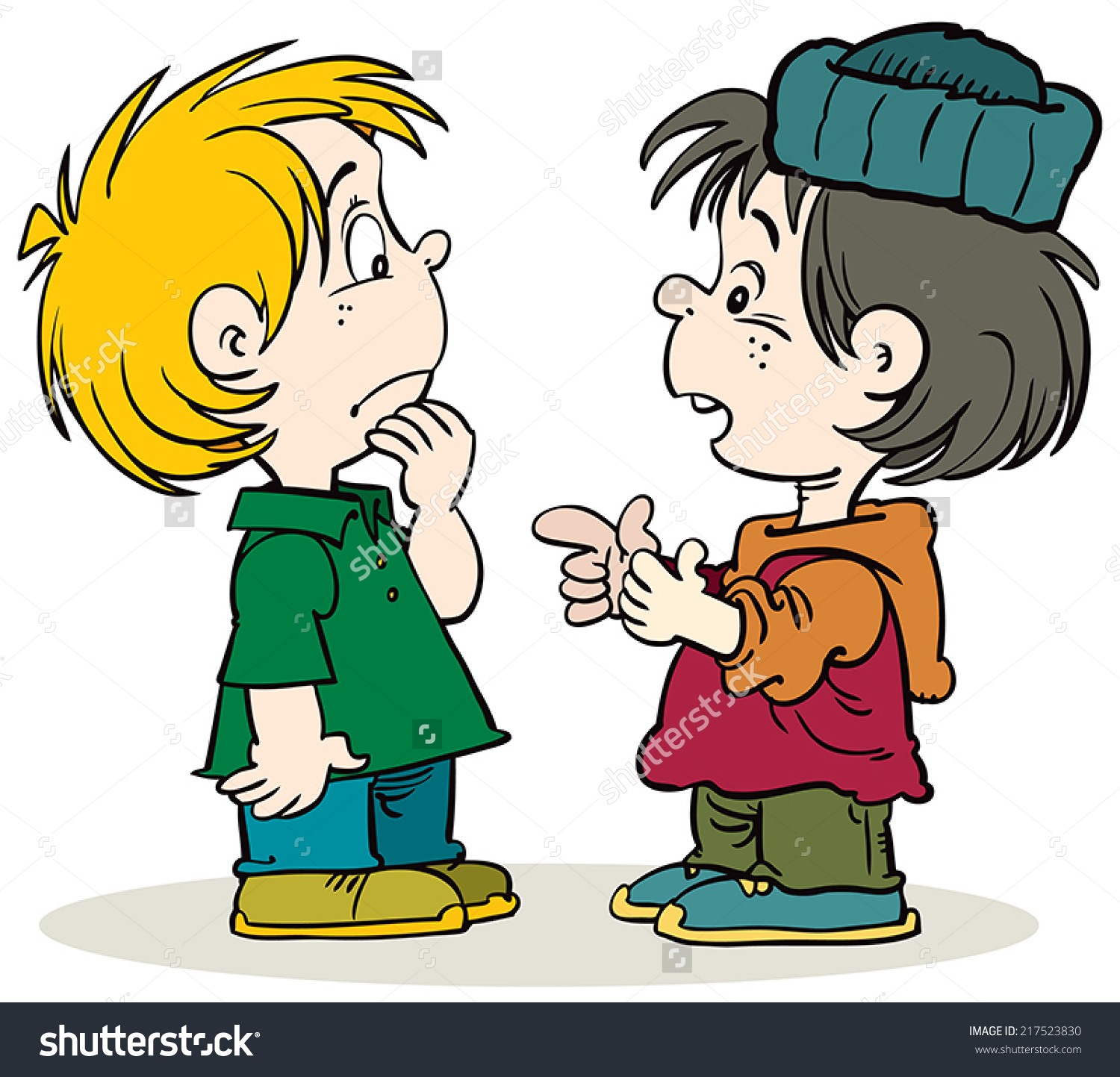 kids chatting clipart - Clipground