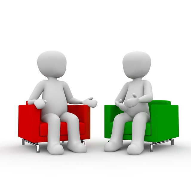 Discussion clipart one to one, Discussion one to one.