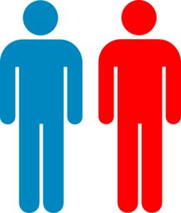 2 Person Outline Clipart.