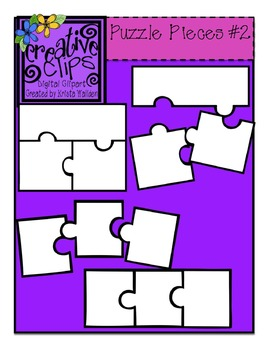 {Free} Puzzle Piece Templates 2 {Creative Clips Digital Clipart}.