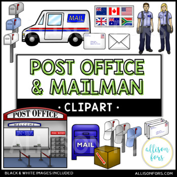 Post Office and Mailman Clip Art.