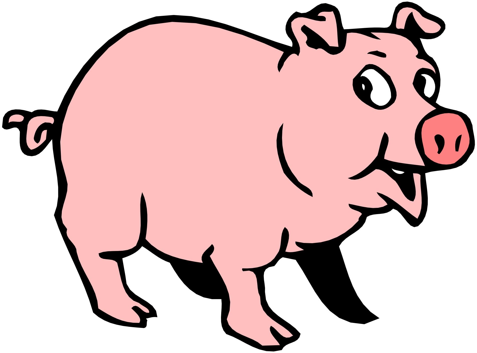 Free 2 Cartoon Pigs, Download Free Clip Art, Free Clip Art.