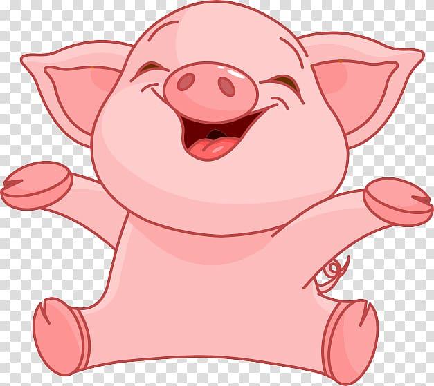 Animated pig, Domestic pig , Cartoon pig transparent.