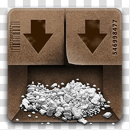 VARIATIONS , white powder in box transparent background PNG.