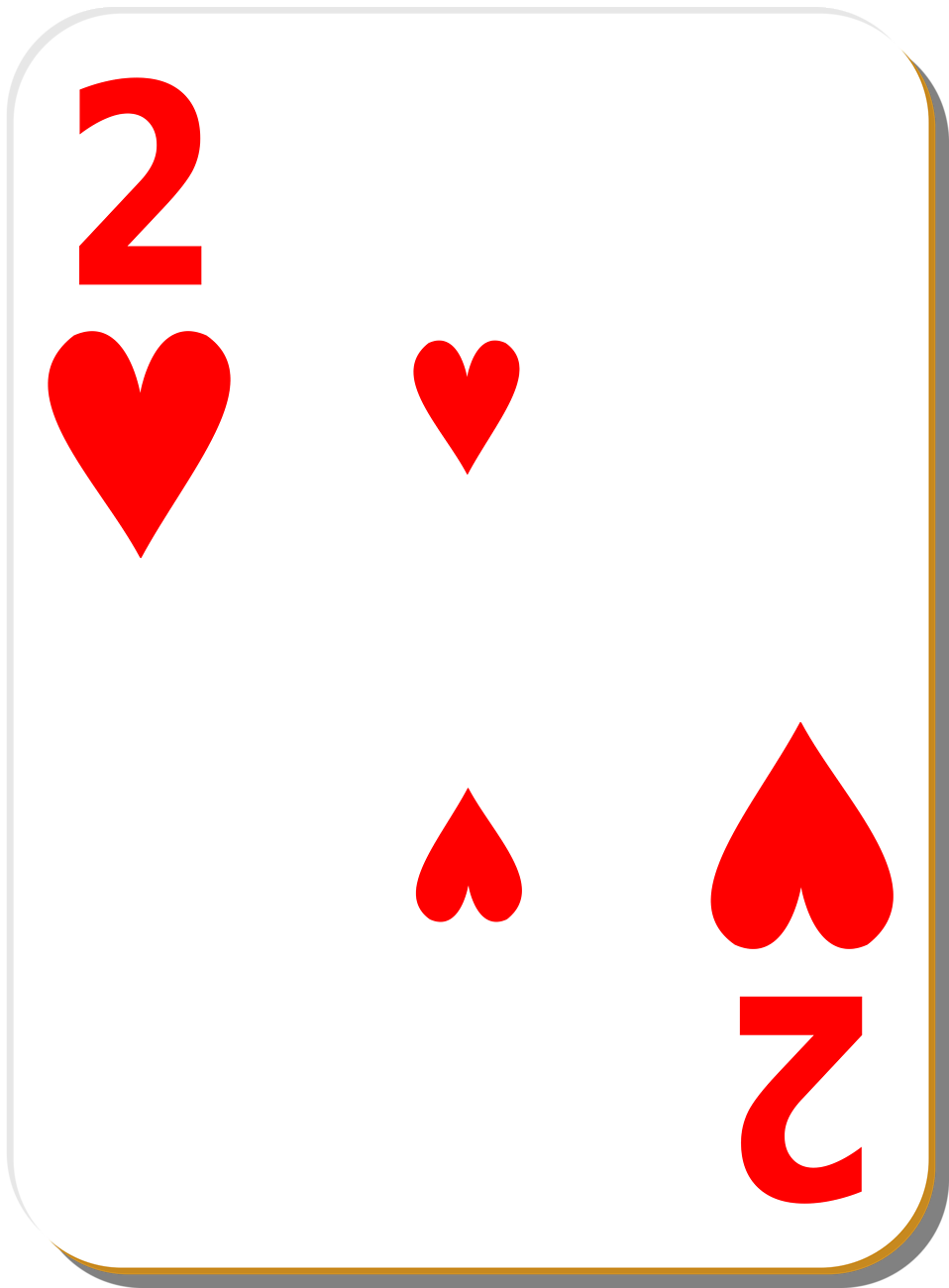 Two Cards Clipart.