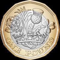 Pound Coin Clipart.