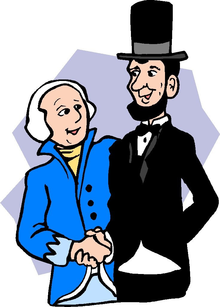 Presidents clipart presidents day.