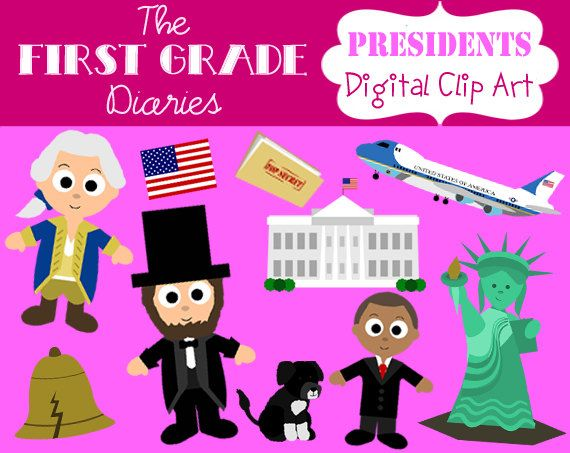 American President Digital Clip Art.