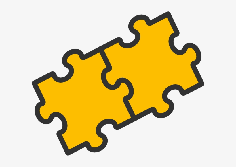 28 Collection Of 2 Puzzle Piece Clipart.