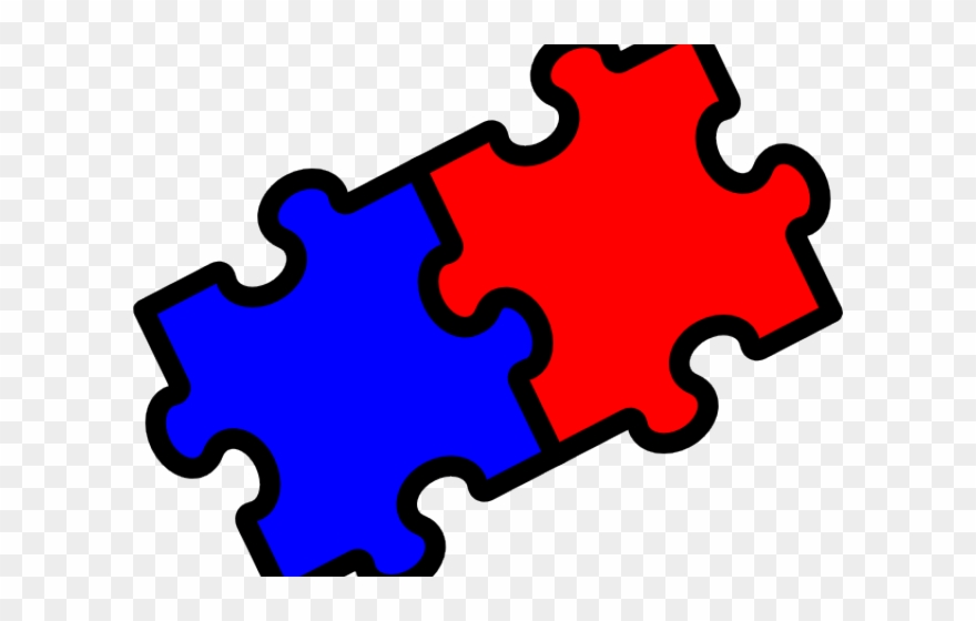 2 Puzzle Pieces Clip Art.