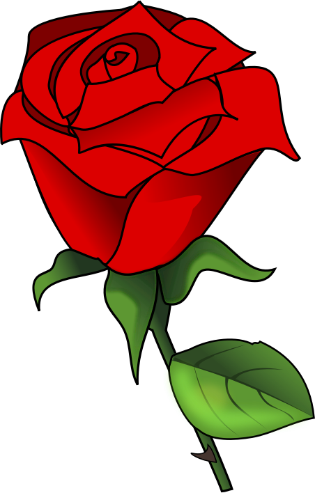 Rose free to use cliparts 2.