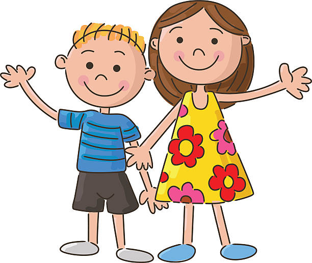 2 siblings clipart Transparent pictures on F.
