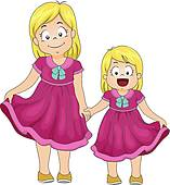 Sisters Clipart.