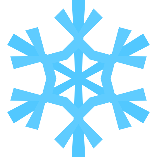 Simple snowflake clipart 2.