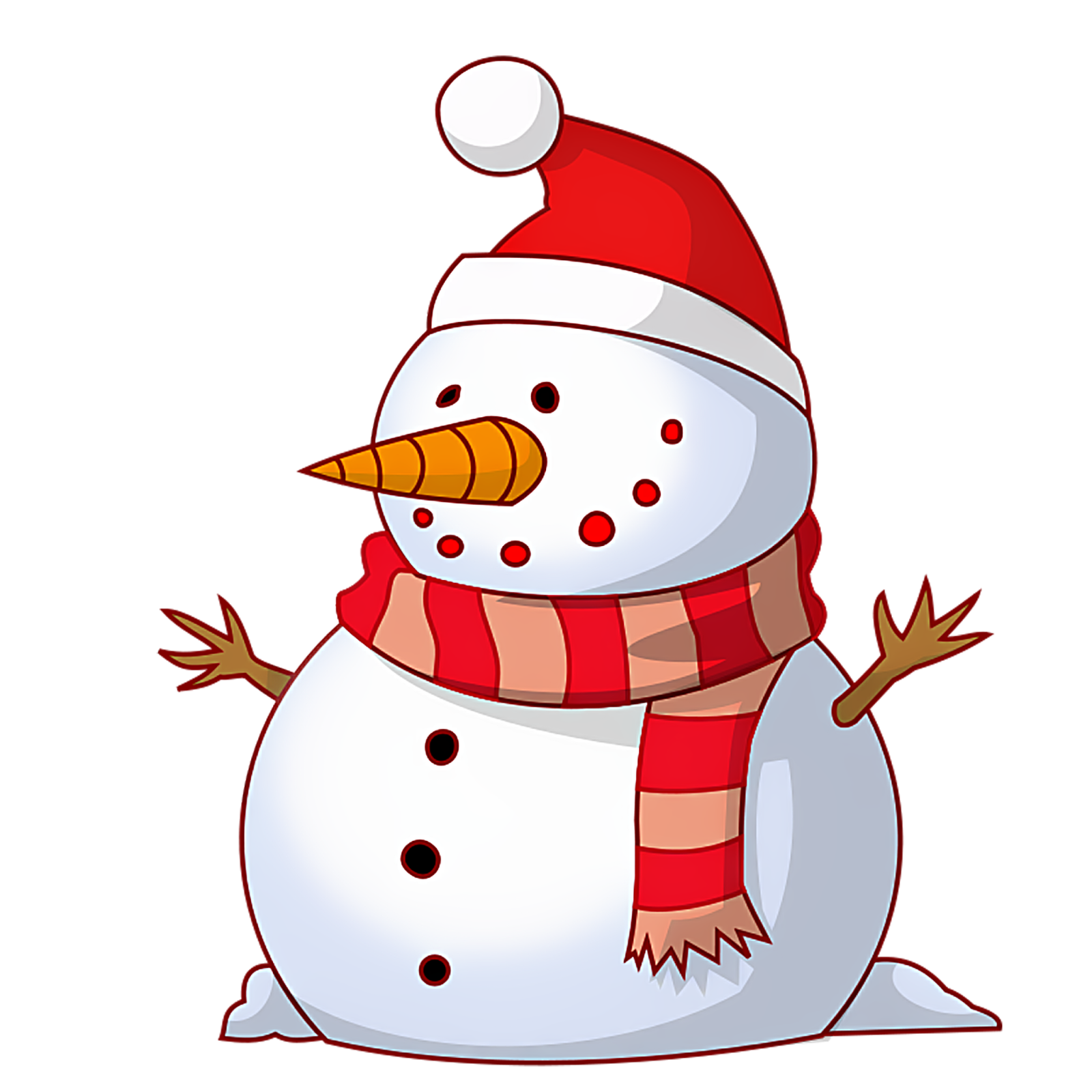 Free snowman clipart images 2.