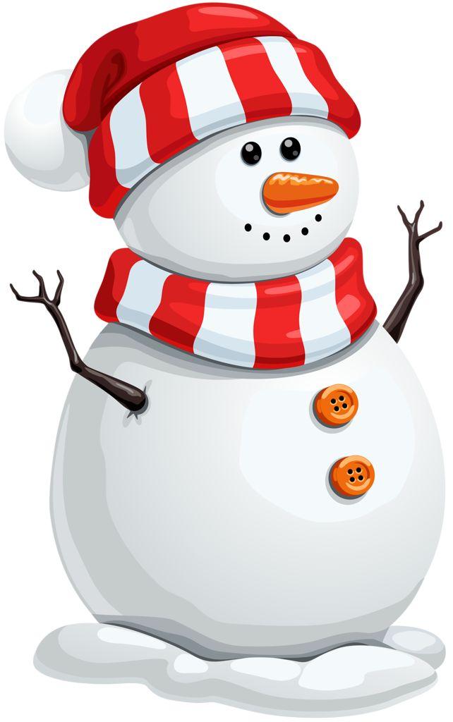 13286 Snowman free clipart.