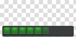 Eraser v , green squares on a gray rectangle transparent.