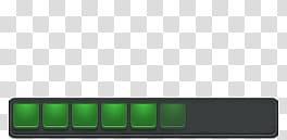 Eraser v , green squares on a gray rectangle transparent.