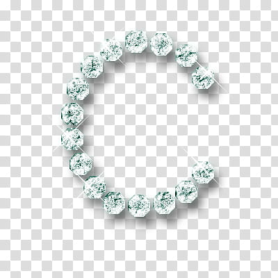 Letras , green letter B diamond stones transparent.