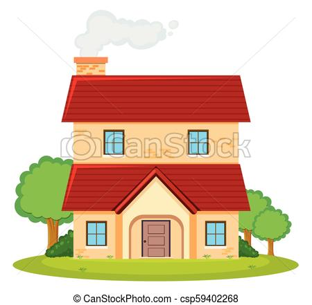 Two storey house Clip Art Vector and Illustration. 855 Two storey.