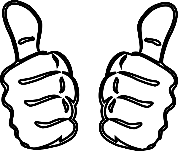 Two Thumbs Up Clip Art at Clker.com.