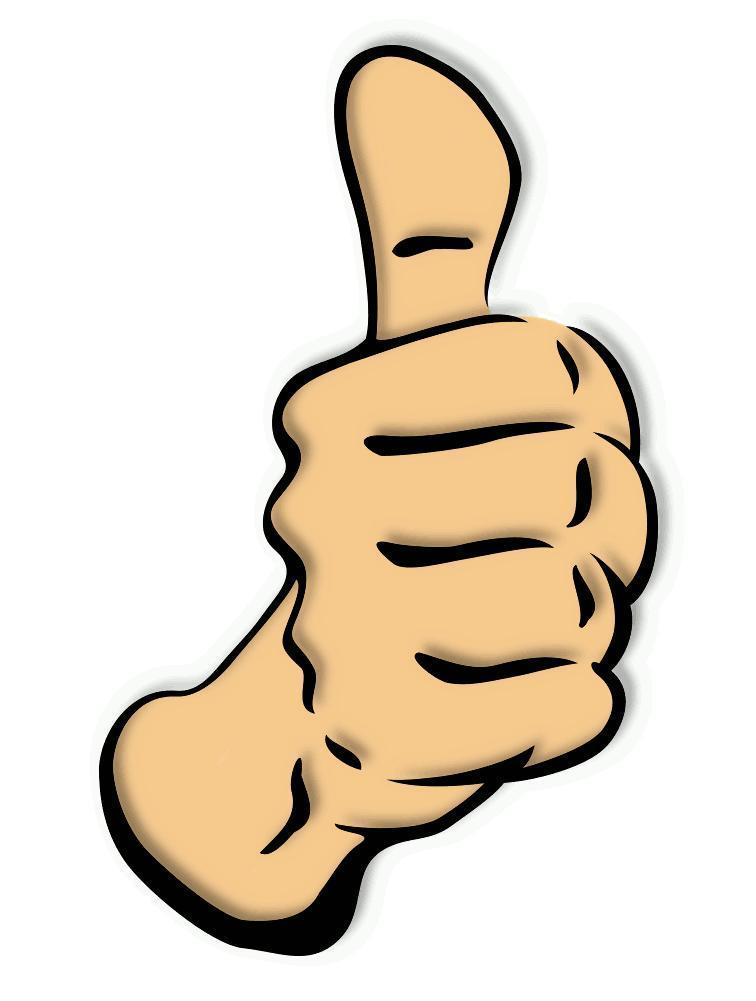 Two thumbs up clipart.
