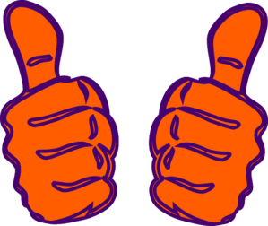 Two Thumbs Up, Purple, Blue Clip Art at Clker.com.