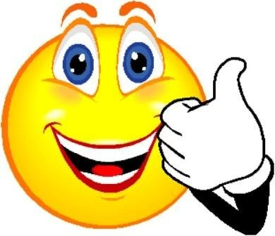 Smiley Face Thumbs Up Clipart.