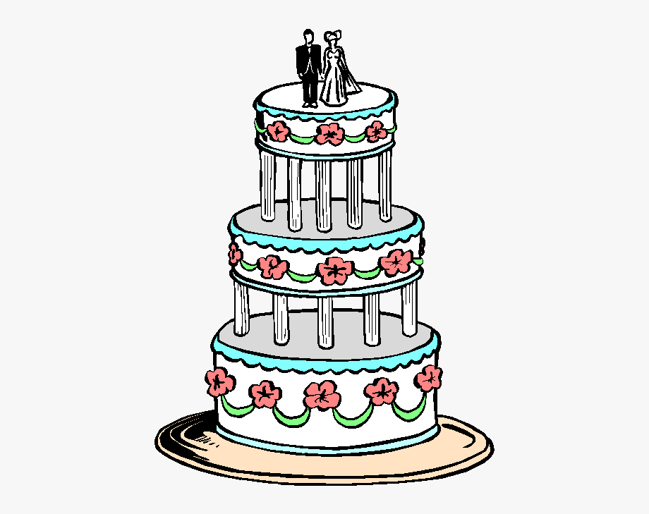 Picture Free Library 3 Tier Cake Clipart.