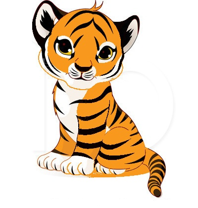 6477 Tiger free clipart.