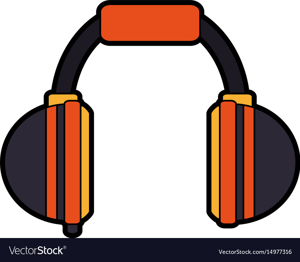 Two tone headphones icon image.