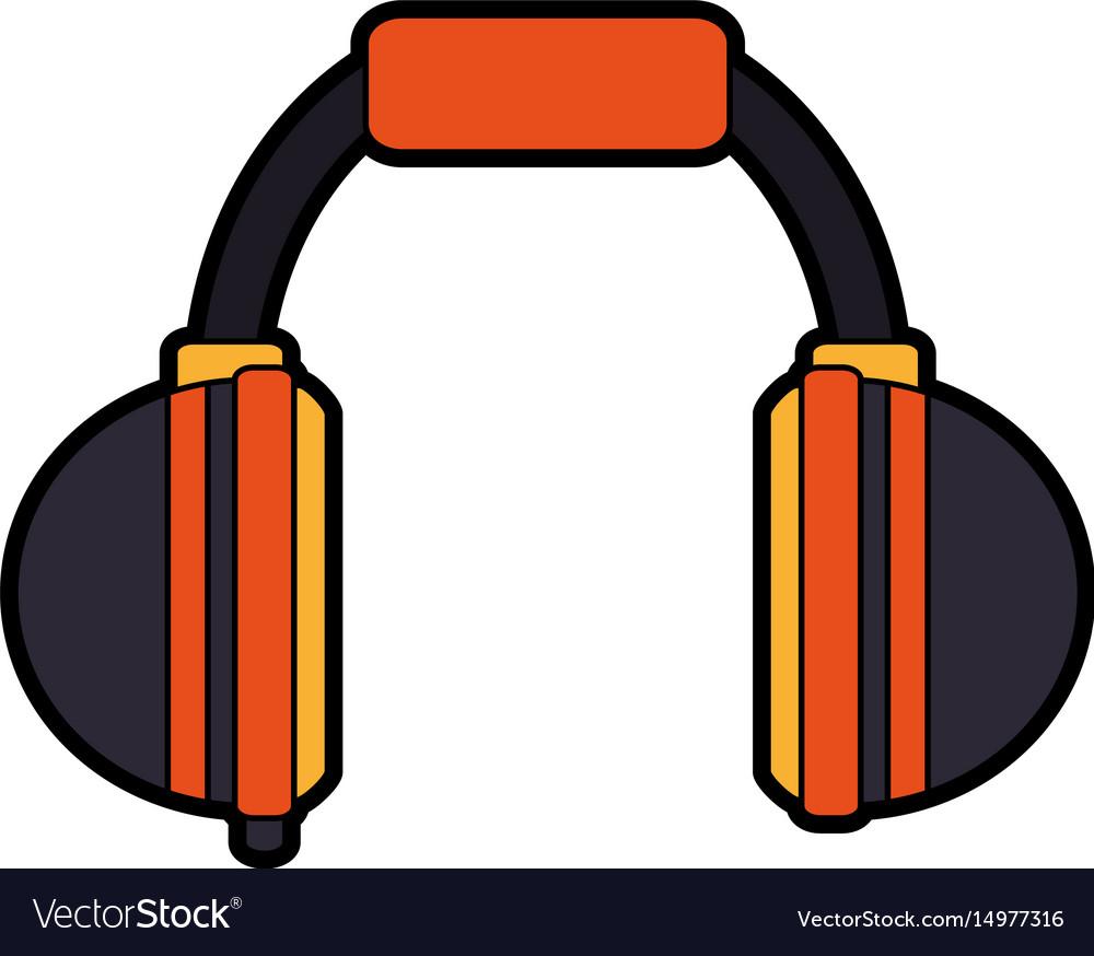 Two tone headphones icon image.
