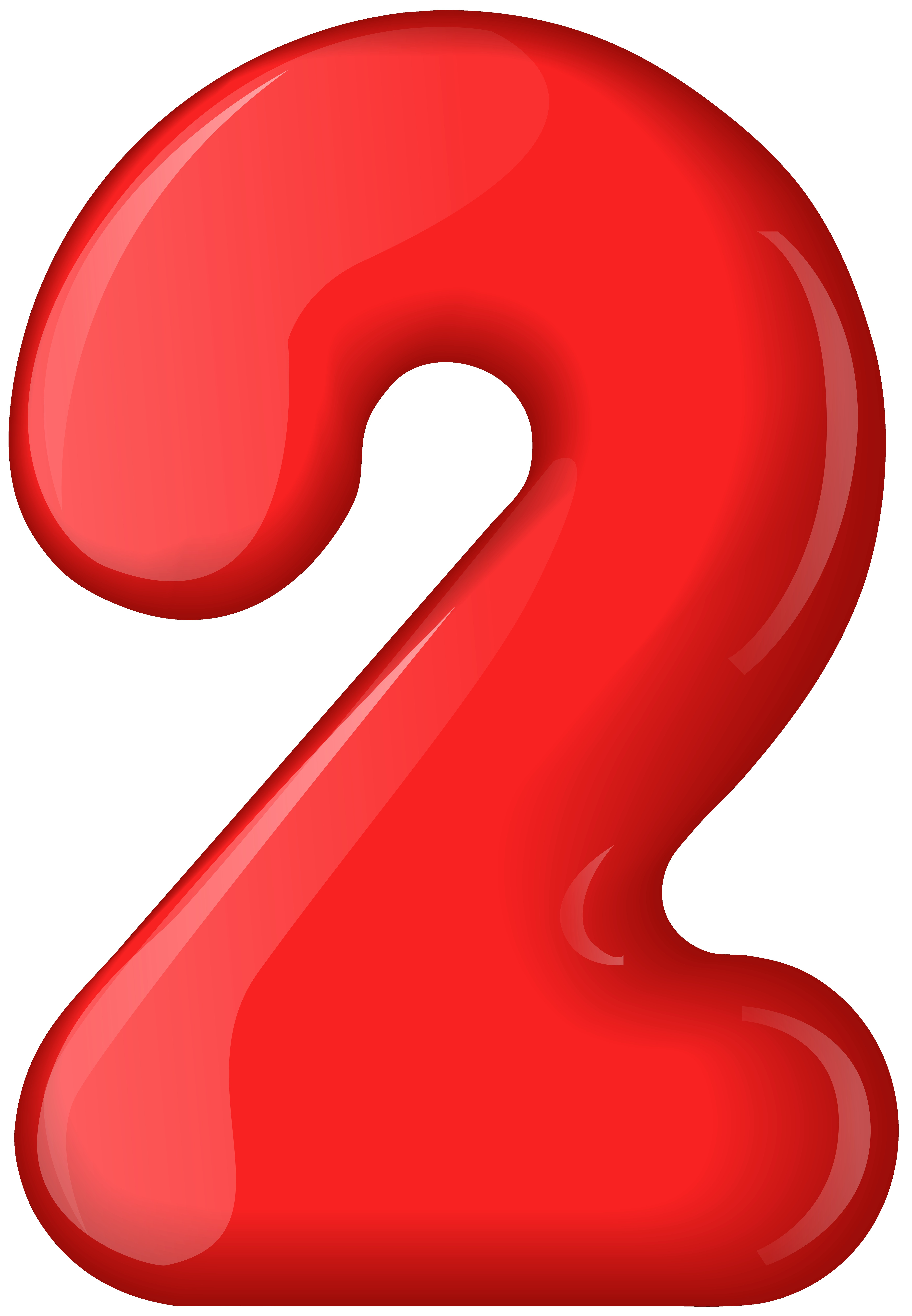 Red number two transparent clip art 2 numbers jpg.