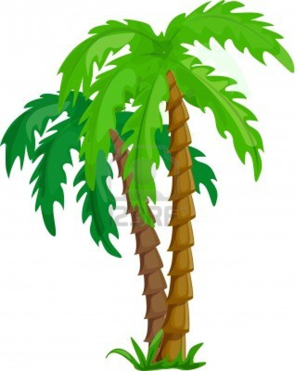 Rainforest trees clipart 2.
