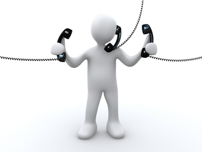 Two Way Phone Call Clipart.
