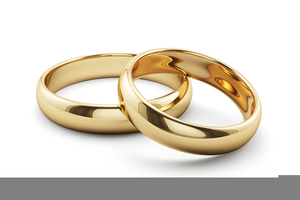 Two Wedding Ring Clipart.