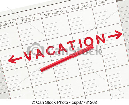 Vacation Calendar Week 2.