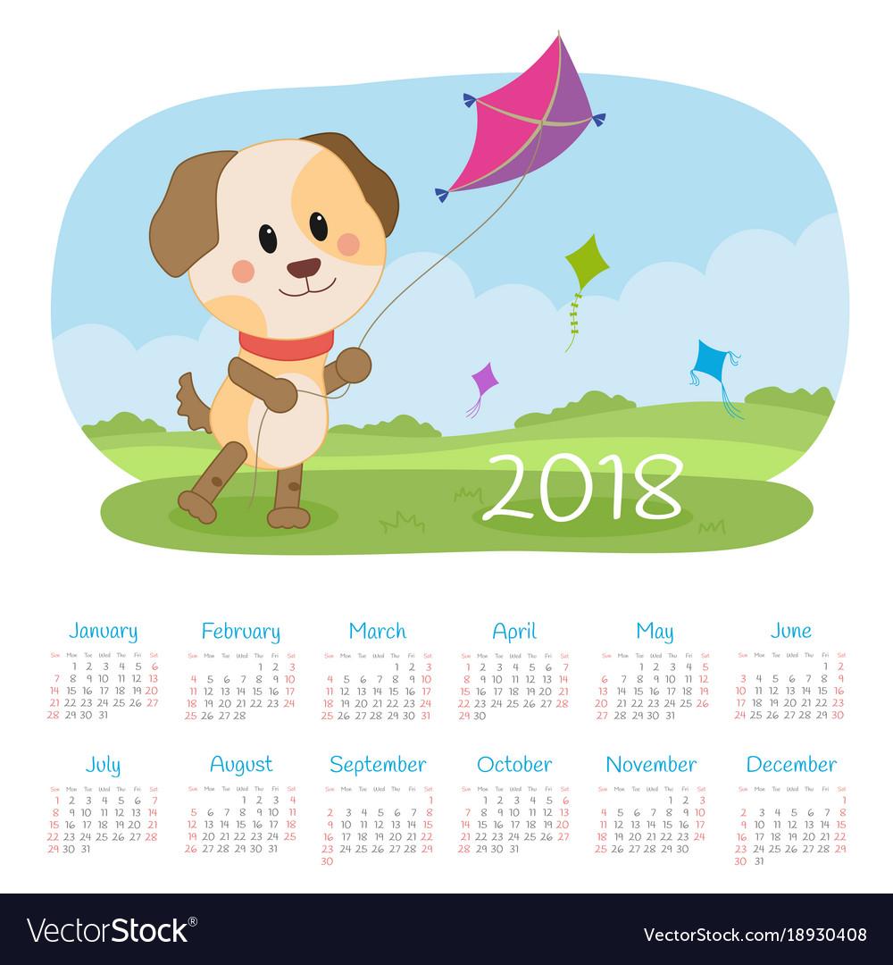 Calendar 2018 year week starts from sunday.