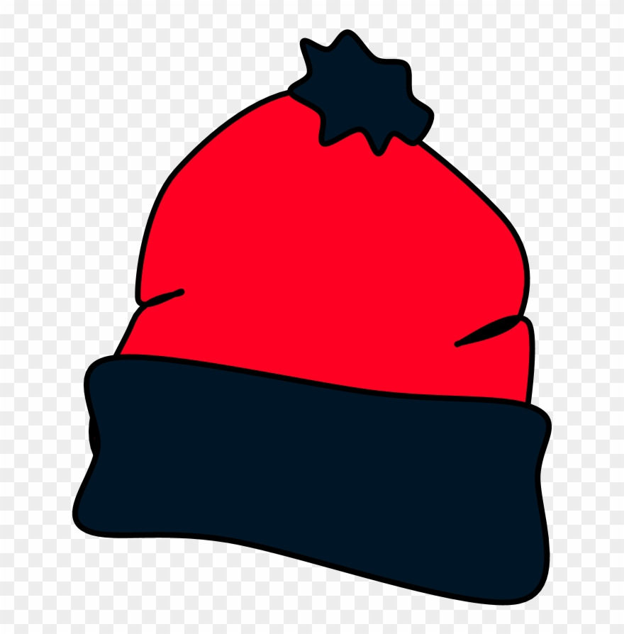 Hat, Winter, Red, Black, Style 2,.