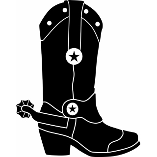 Cowboy boots clipart black and white free 2.