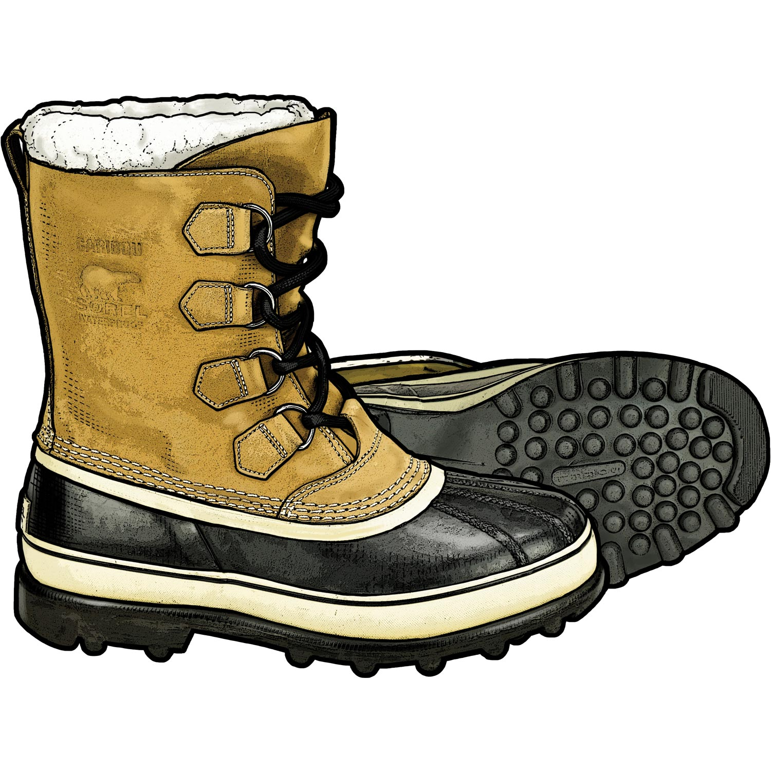 Snow boots clipart 2 » Clipart Station.