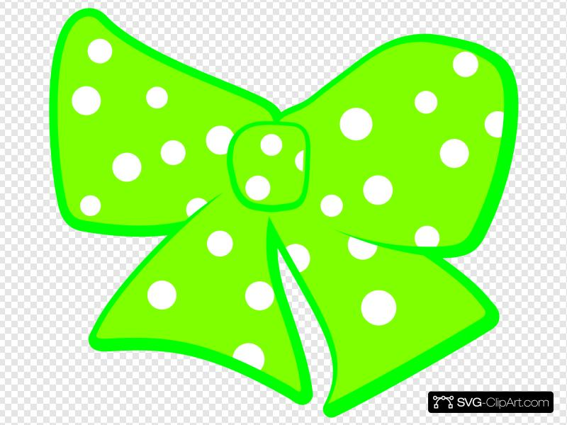 Bow With Polka Dots 2 Clip art, Icon and SVG.