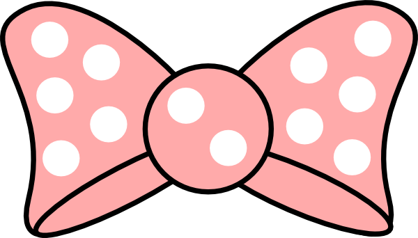 Pink minnie mouse bow cut outs from clipart 2.