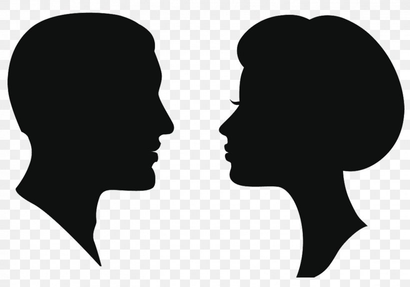 Silhouette Female Man Clip Art, PNG, 1424x1000px, Silhouette.