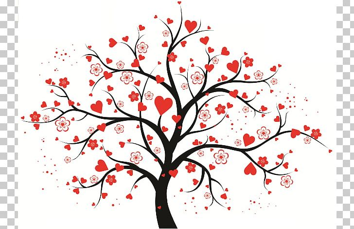 Tree Heart PNG, Clipart, Art, Blossom, Branch, Cherry.