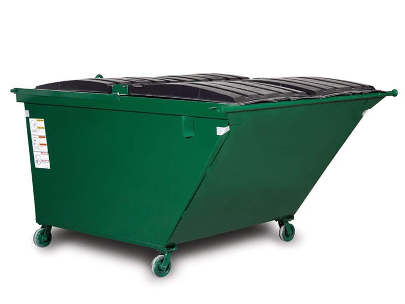 Slope Front Rear Load Dumpsters with Casters.