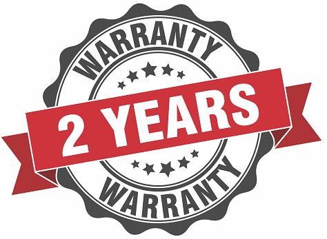 2 Year Warranty.