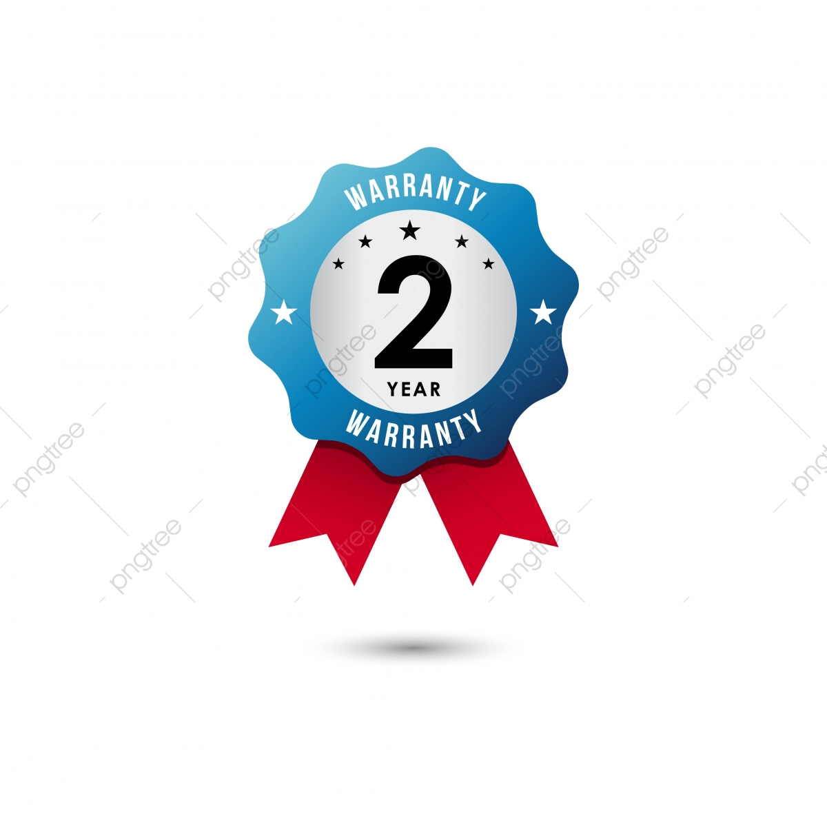 2 Year Warranty Vector Template Design Illustration, Warranty, 2.
