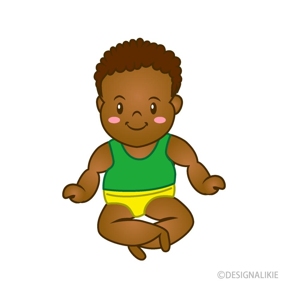 Free Baby 2 Years Old Clipart Image|Illustoon.