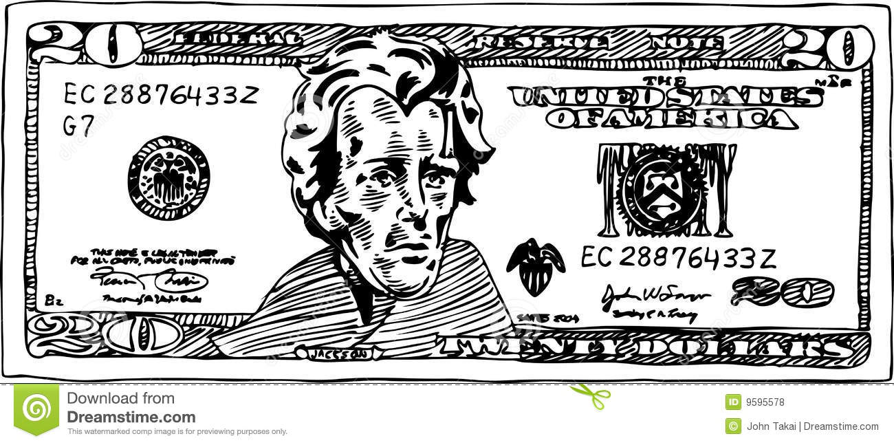 Bill clipart 20 dollar, Bill 20 dollar Transparent FREE for.